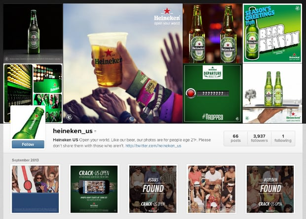 Heineken Creates Instagram Scavenger Hunt